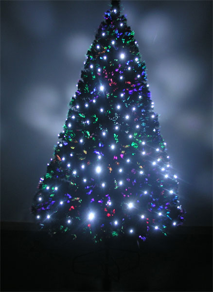 4ft White Fibre Optic Christmas Tree