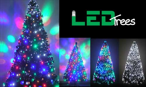 5ft fiber optic pre lit Christmas tree