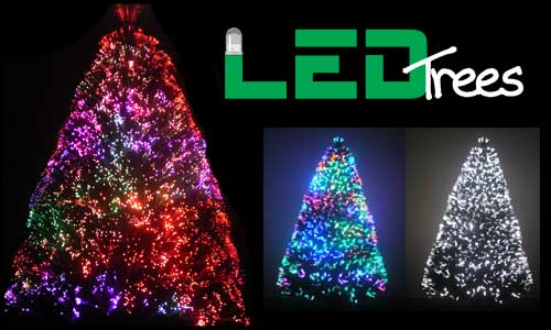 8ft fiber optic Christmas tree