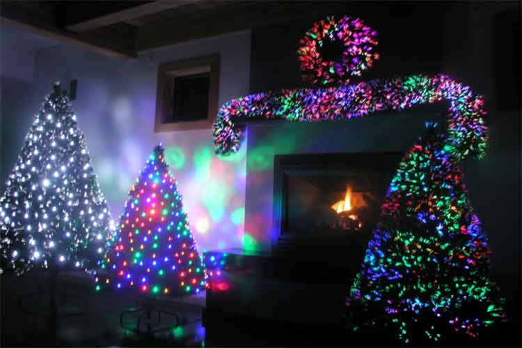 Pre Lit Fiber Optic Christmas Trees